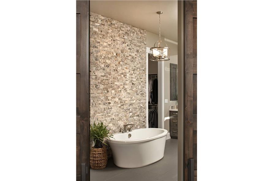 Master Bathroom: Tub of this 3-Bedroom,2925 Sq Ft Plan -161-1135