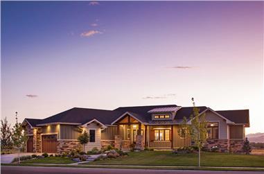 3–5-Bedroom, 2925 Sq Ft Ranch Home - Plan #161-1135 - Main Exterior