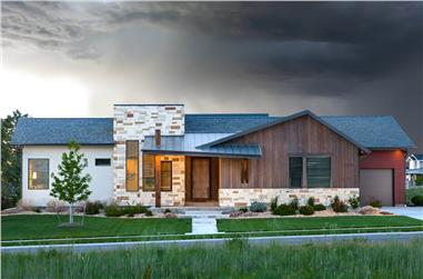 3-Bedroom, 2497 Sq Ft Contemporary Home - Plan 161-1138 - Main Exterior
