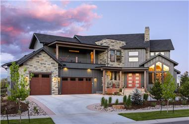 3-Bedroom, 3650 Sq Ft Contemporary Home - Plan #161-1140 - Main Exterior