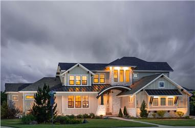 4-5 Bedroom, 3338 Sq Ft Farmhouse House Plan - 161-1144 - Front Exterior