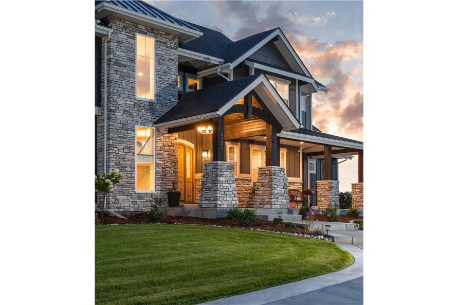 Porch of this 4-Bedroom,3907 Sq Ft Plan -161-1145