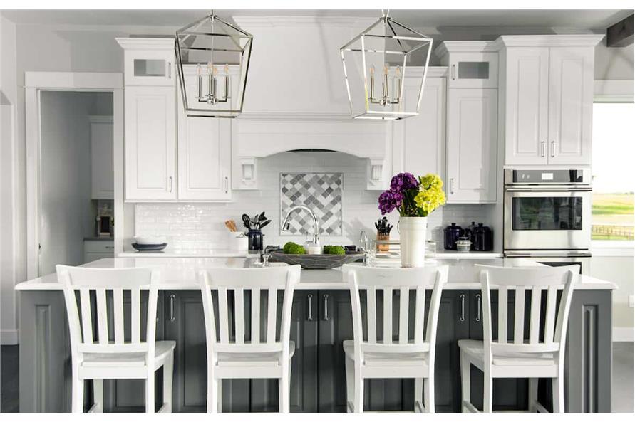 Kitchen: Breakfast Bar of this 4-Bedroom,3907 Sq Ft Plan -161-1145