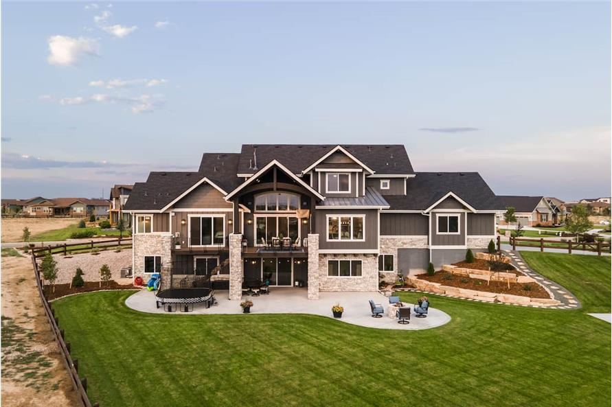Rear View of this 4-Bedroom,3907 Sq Ft Plan -161-1145