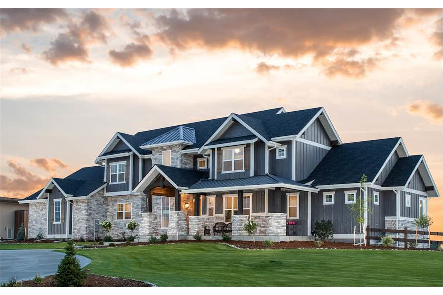 Right Side View of this 4-Bedroom,3907 Sq Ft Plan -161-1145