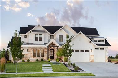 4–5-Bedroom, 3717–5698 Sq Ft Contemporary House - Plan #161-1149 - Front Exterior