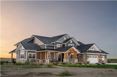 4-Bedroom, 3149 Sq Ft Luxury House - Plan #161-1151 - Front Exterior