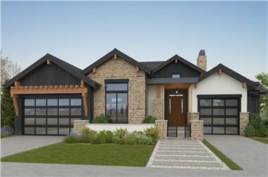 2–4 Bedroom, 3170–5153 Sq Ft Contemporary House - Plan #161-1152 - Front Exterior