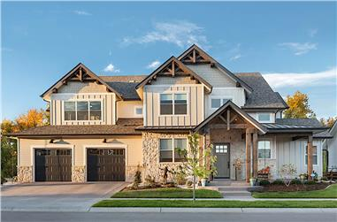 4-Bedroom, 3874 Sq Ft Luxury House - Plan #161-1153 - Front Exterior