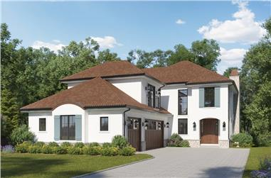 3–4-Bedroom, 3389–4429 Sq Ft Mediterranean House - Plan #161-1156 - Front Exterior