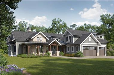 2–4-Bedroom, 2042–3493 Sq Ft Ranch House - Plan #161-1157 - Front Exterior