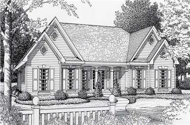 3-Bedroom, 1809 Sq Ft Country House Plan - 162-1000 - Front Exterior