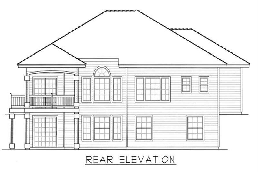 House Plan RDI-1670R1-DB Rear Elevation
