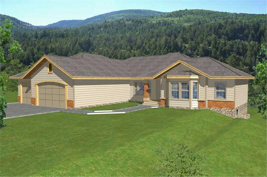 Contemporary ranch in law suite house plans home for Contemporary ranch house plans