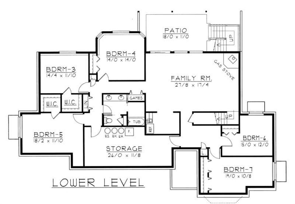 House Plan RDI-2583R1-DB Basement Floor Plan
