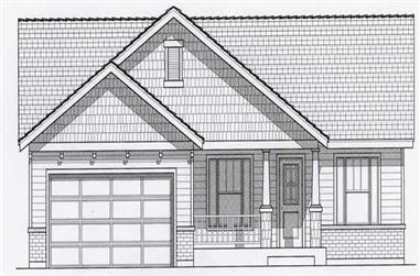 4-Bedroom, 2781 Sq Ft Craftsman Home Plan - 162-1004 - Main Exterior
