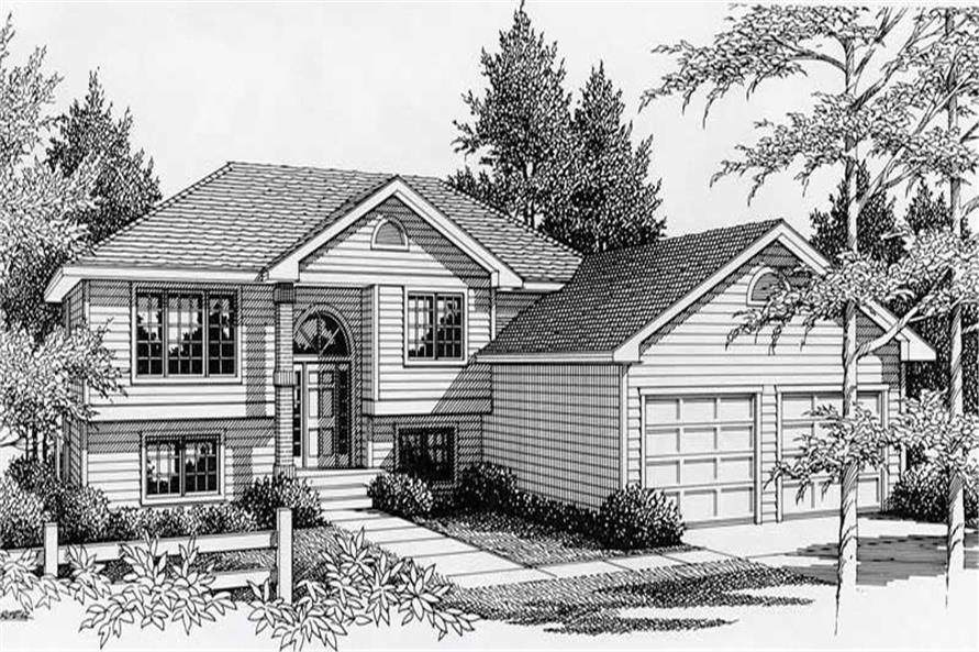 3-Bedroom, 1356 Sq Ft Small House Plans - 162-1005 - Main Exterior