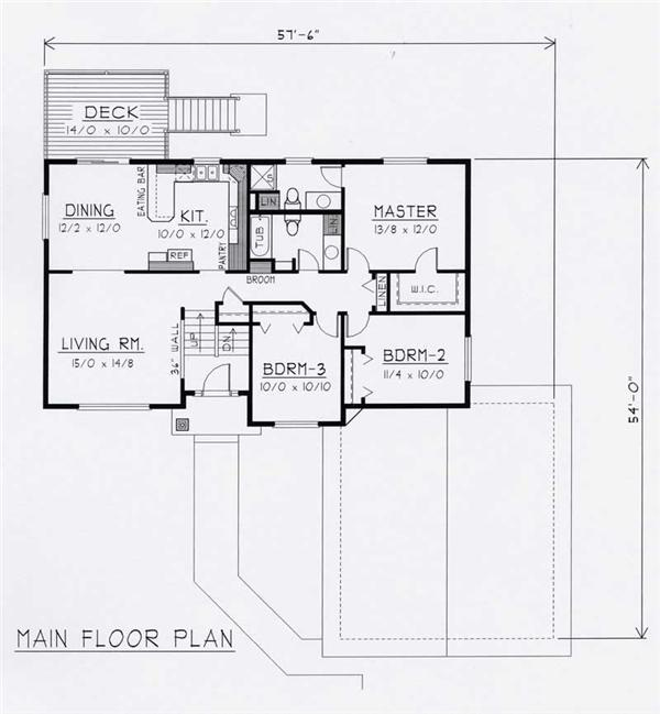 House Plan RDI-1356SE1-B Main Floor Plan