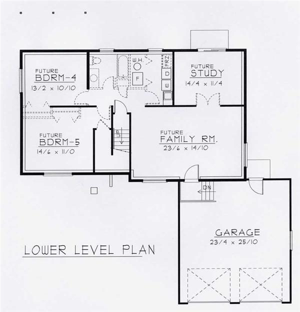 House Plan RDI-1356SE1-B Basement Floor Plan