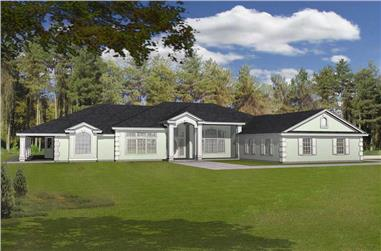2-Bedroom, 2616 Sq Ft Contemporary Home Plan - 162-1007 - Main Exterior