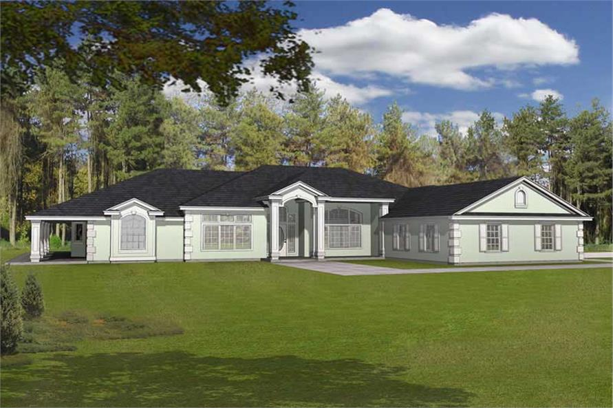 Main image for house plan # 19022