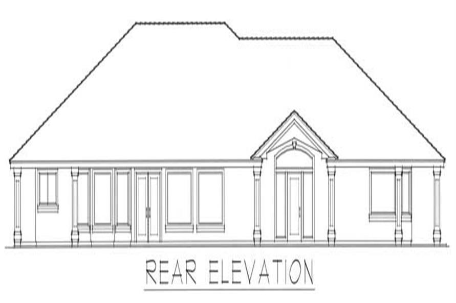 Home Plan Rear Elevation of this 2-Bedroom,2616 Sq Ft Plan -162-1007