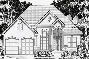 4-Bedroom, 3538 Sq Ft Contemporary House Plan - 162-1008 - Front Exterior