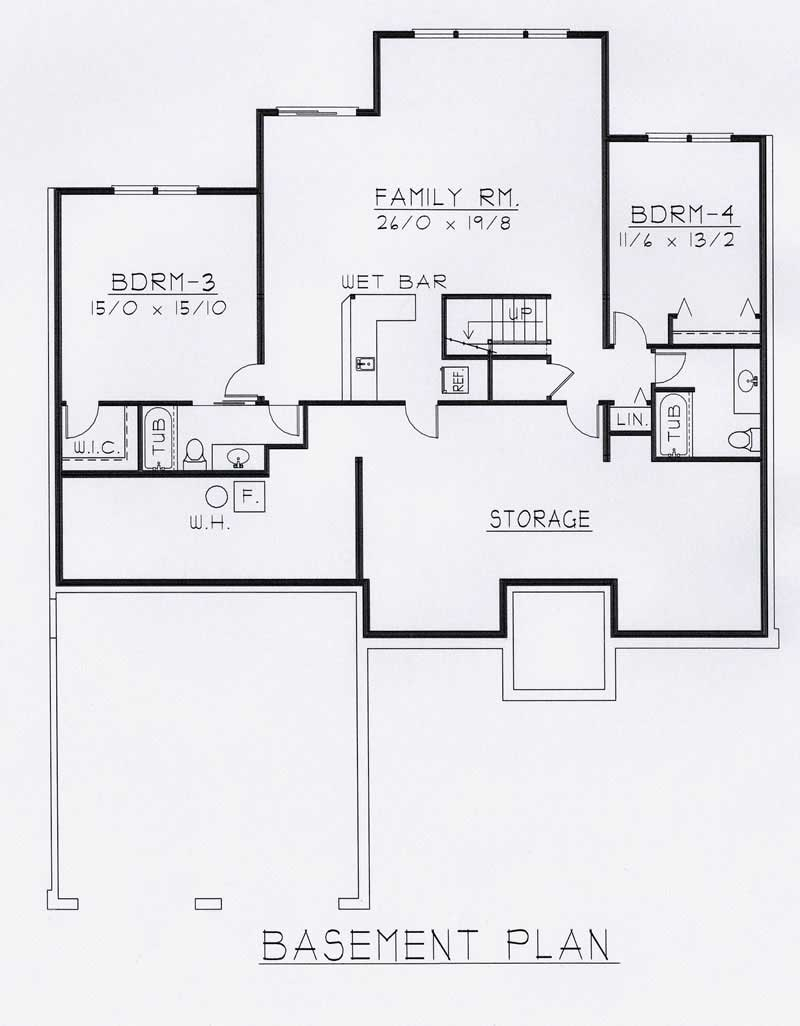Contemporary house plans home design rdi 2141r1 b 18784 - House plans one story with basement collection ...