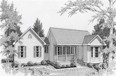 4-Bedroom, 2441 Sq Ft Country House Plan - 162-1010 - Front Exterior