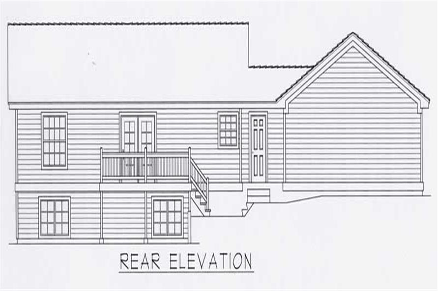 House Plan RDI-1376R1-B Rear Elevation