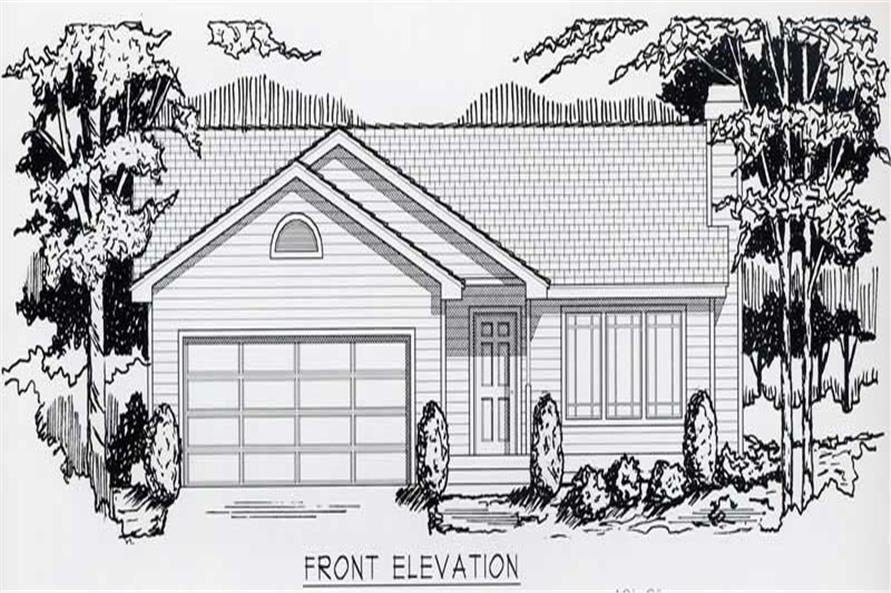 2-Bedroom, 1080 Sq Ft Bungalow House Plan - 162-1012 - Front Exterior