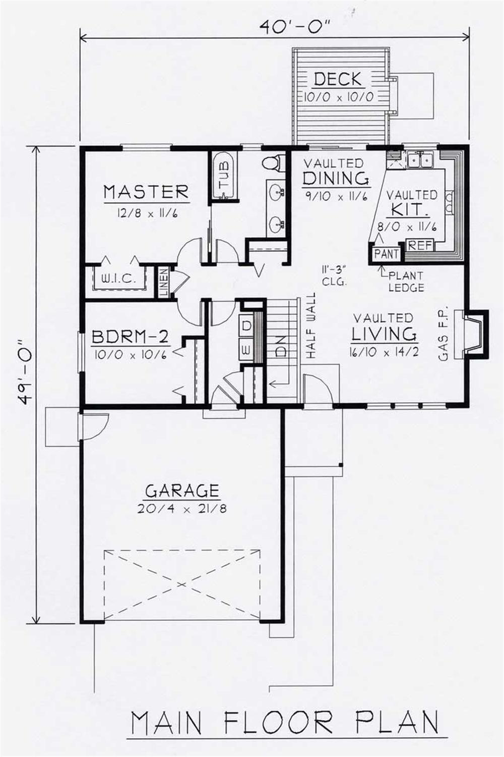 Large Images For House Plan 162 1012