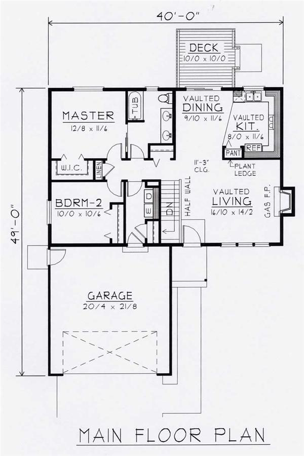 House Plan RDI-1080R1-B Main Floor Plan