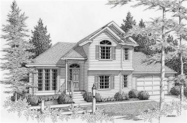 3-Bedroom, 1794 Sq Ft Contemporary House Plan - 162-1014 - Front Exterior