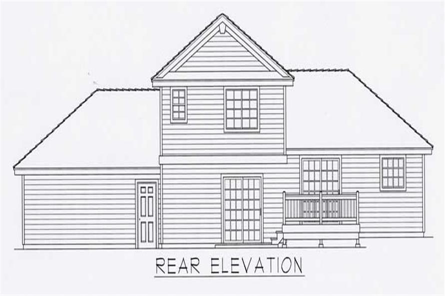 House Plan RDI-1794FL1-B Rear Elevation