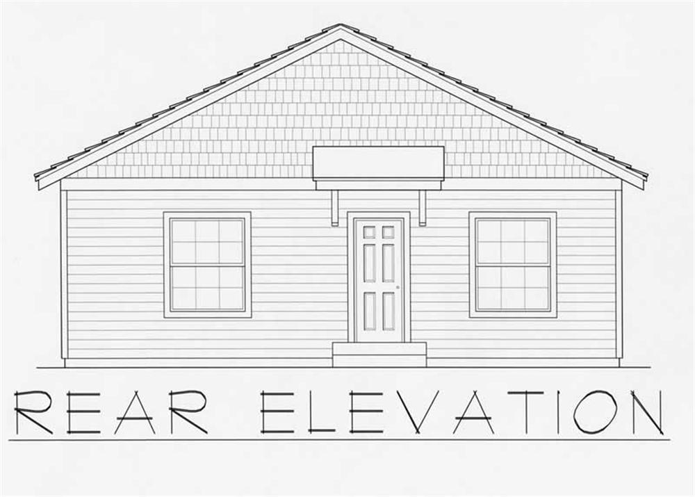 House Plan RDI-1200R1-B Rear Elevation