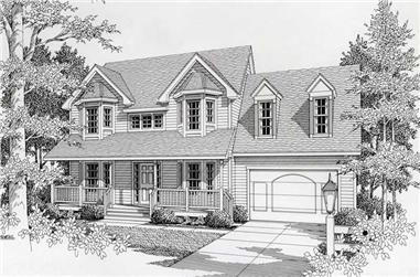 3-Bedroom, 1881 Sq Ft Country Home Plan - 162-1016 - Main Exterior