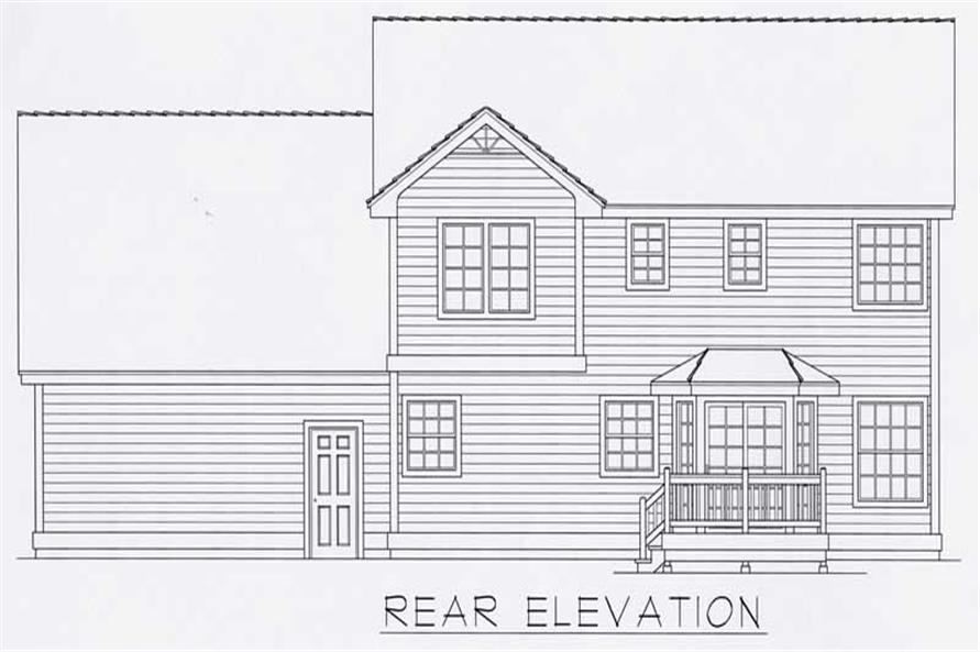 Home Plan Rear Elevation of this 3-Bedroom,1881 Sq Ft Plan -162-1016