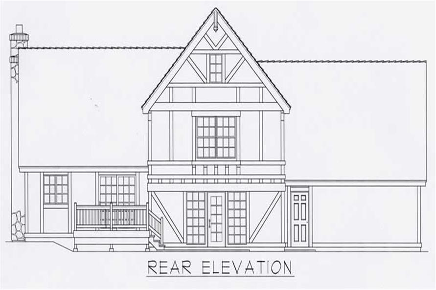 Home Plan Rear Elevation of this 3-Bedroom,1935 Sq Ft Plan -162-1017