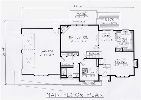 House Plan RDI-1935FL1-B Main Floor Plan