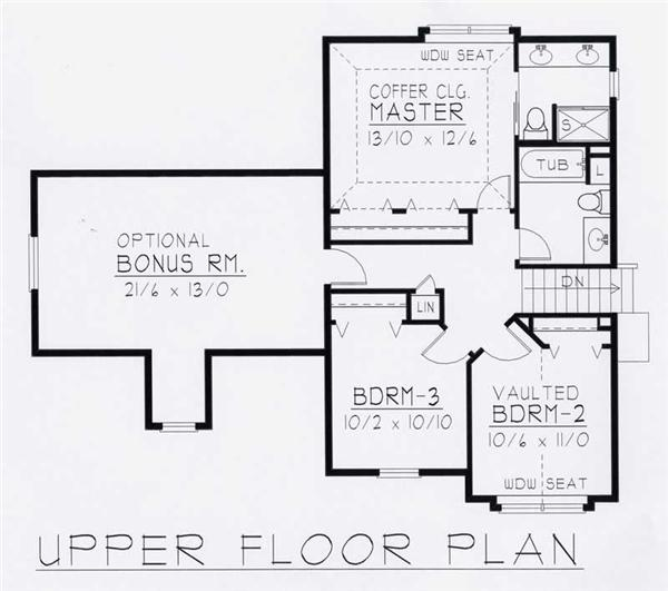 House Plan RDI-1935FL1-B Second Floor Plan