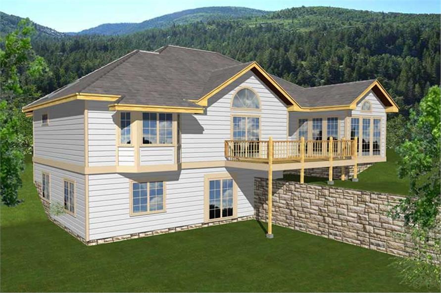 3-Bedroom, 3057 Sq Ft Log Cabin Home Plan - 162-1018 - Main Exterior