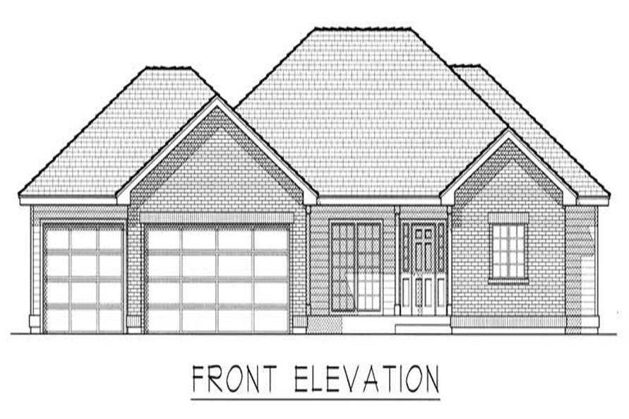 Home Plan Front Elevation of this 3-Bedroom,3057 Sq Ft Plan -162-1018