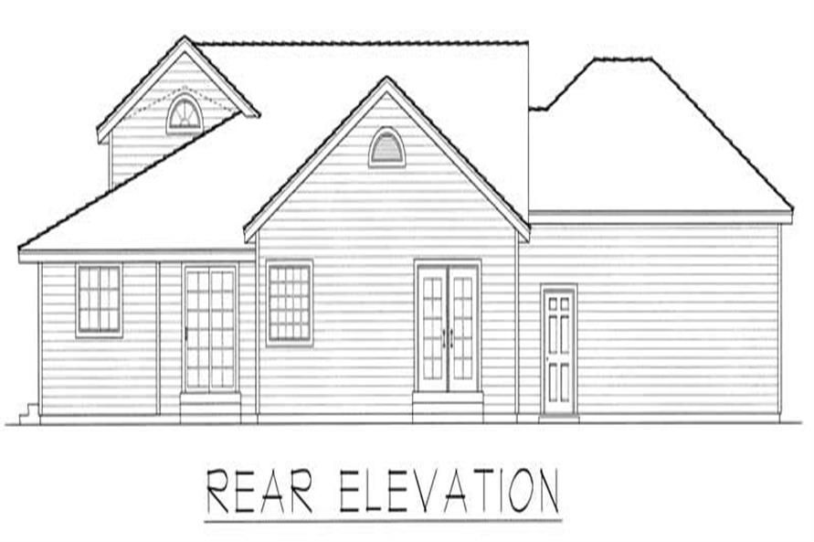 Home Plan Rear Elevation of this 2-Bedroom,1515 Sq Ft Plan -162-1020