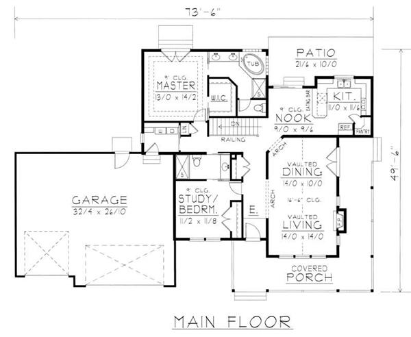 House Plan RDI-1515R1-B Main Floor Plan