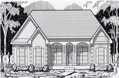 3-Bedroom, 1626 Sq Ft Contemporary Home Plan - 162-1021 - Main Exterior