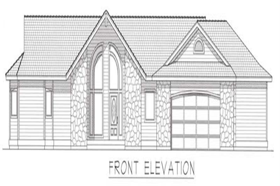 Home Plan Front Elevation of this 2-Bedroom,3480 Sq Ft Plan -162-1022