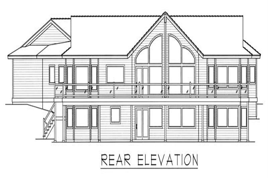 Home Plan Rear Elevation of this 2-Bedroom,3480 Sq Ft Plan -162-1022