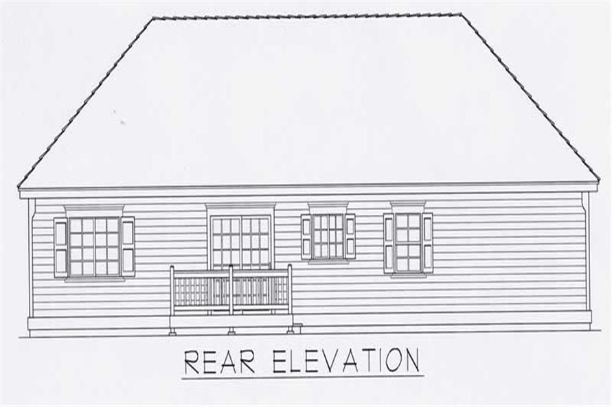 House Plan RDI-1096R1-B Rear Elevation