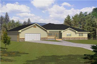 3-Bedroom, 2132 Sq Ft Contemporary House Plan - 162-1025 - Front Exterior
